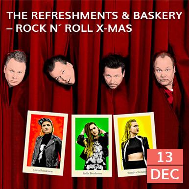 För sjuttonde året bjuderThe Refreshments, förstärkta med Baskery, på landets rockigaste julkonsert. Den 13 december kommer de till Arena Varberg.