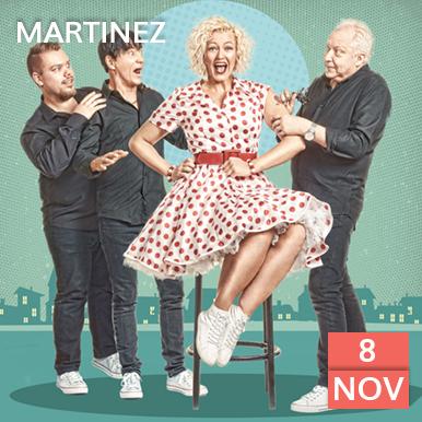 Den 8 november kommer dansbandet Martinez till Arena Varberg, Nöjeshallen. Sann spelglädje utlovas och en doft från 60-talet gör sig påmind när Martinez bjuder upp till dans.