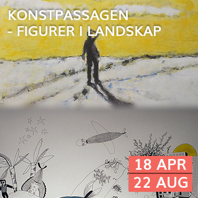 Kenneth Abrahamsson och Susanne Westerberg visar måleri och teckningar på Arena Varberg, Konstpassagen under våren och sommaren.