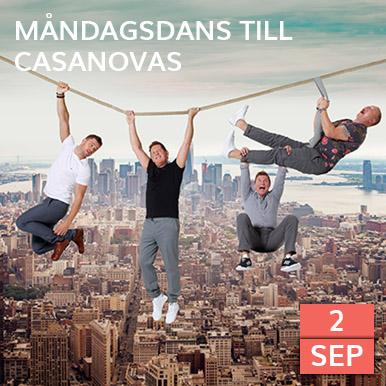 Kom och dansa på Varbergs finaste dansbana när Casanovas spelar på Arena Varberg, Rotundan.